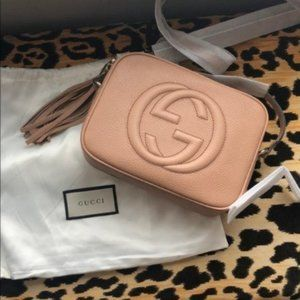 Authentic Gucci Soho Pink Bag Disco with 331634